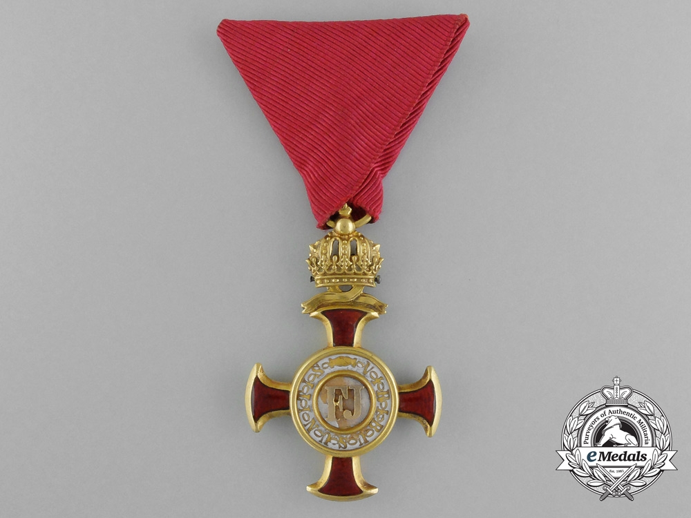 eMedals-Austria, Empire. A Golden Cross of Merit with Crown by, Braun of Vienna