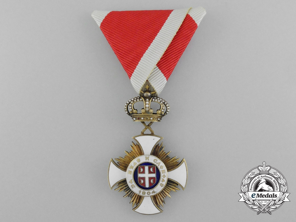 eMedals-Serbia, Kingdom. An Order of the Star of Karageorge, IV Class, by Bertrand, c.1918