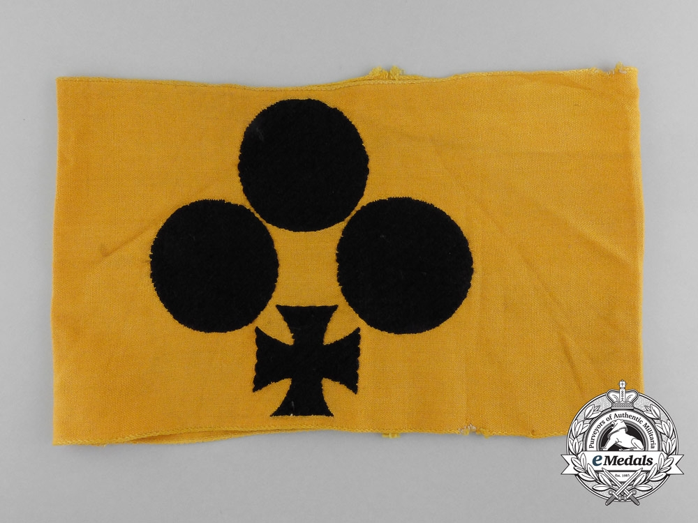 eMedals-A Rare Early Pattern Second War German Armband for Blinded Combatants