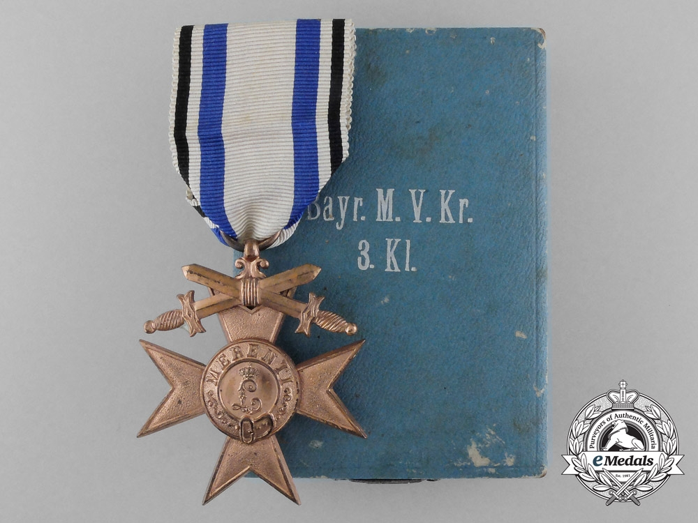 eMedals-A Bavarian Military Merit Order; 3rd Class with Case