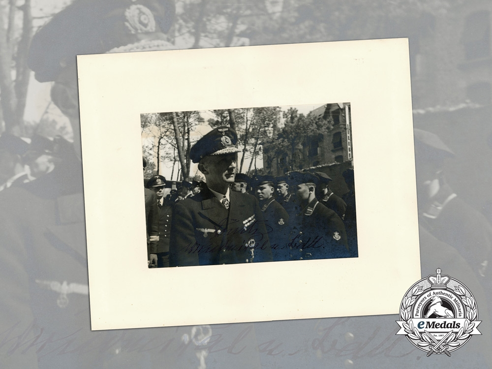 eMedals-A Large Signed Photograph of Vice Admiral Karl Dönitz