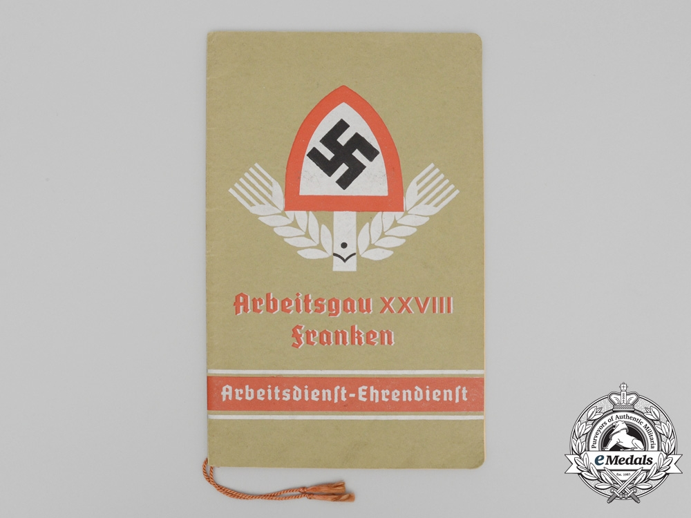 eMedals-A RAD Arbeitsgau 28 Franken Regiment Photo Album