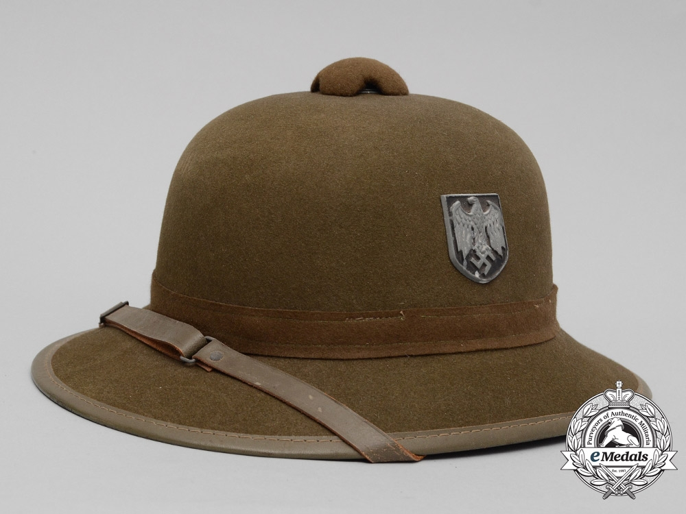 A Second Pattern Wehrmacht Afrika Korps Pith Helmet Army