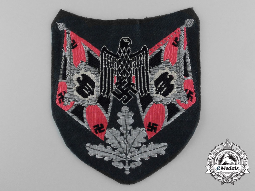 eMedals-A Panzer Flag Bearer Sleeve Insignia; Tunic Removed