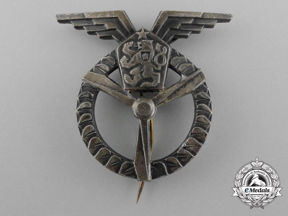 eMedals-A Czechoslovakian Air Force Ground Air Mechanic Badge, 3rd Class