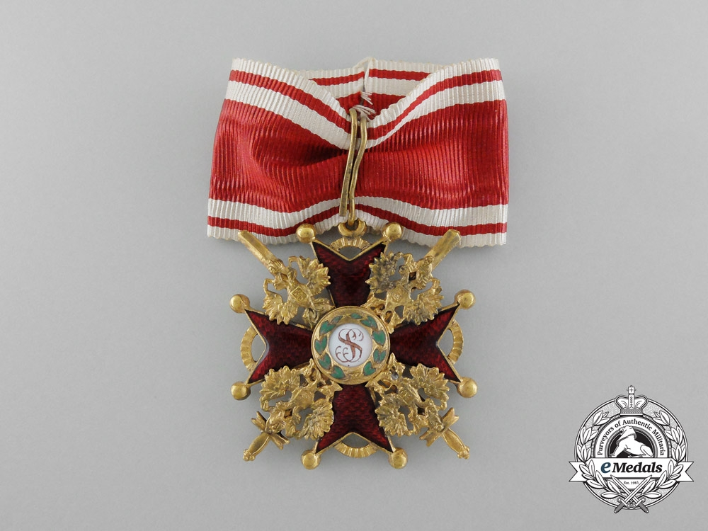 eMedals-A First War Russian Order of St. Stanislaus Military Division; Third Class by Keibel