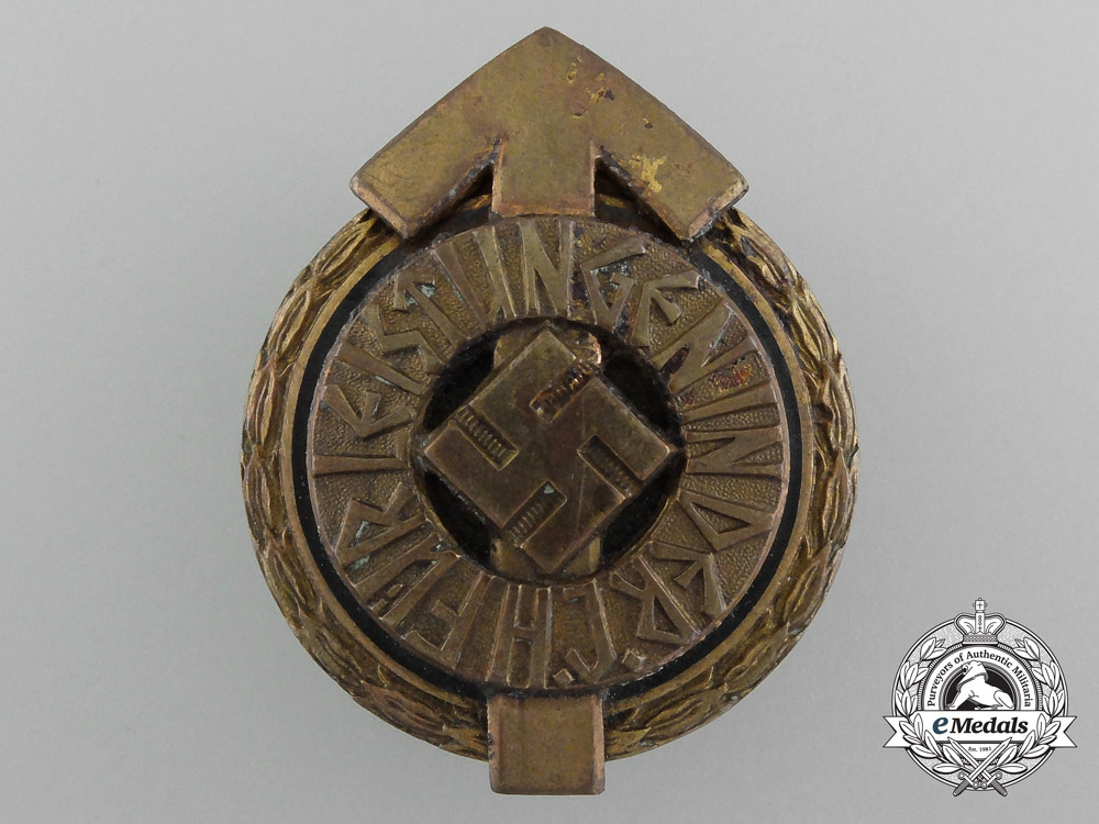 eMedals-Germany. A Golden HJ Leader's Sports Badge by Gustav Brehmer