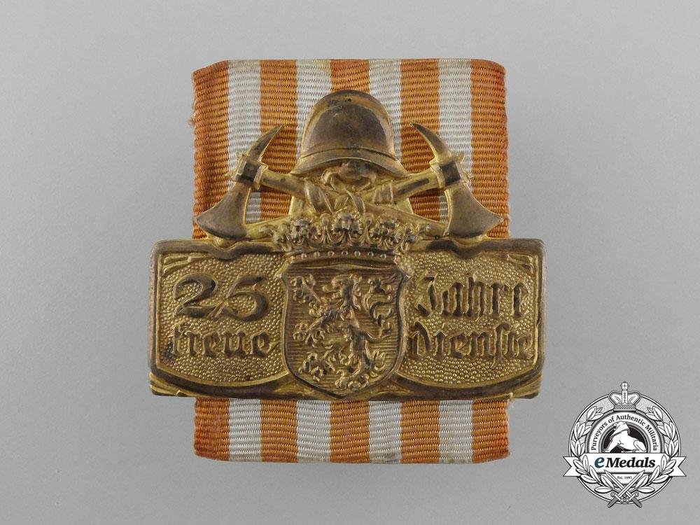 eMedals-A Rare 1923 Hessen Fire Brigade 25-Year Service Award