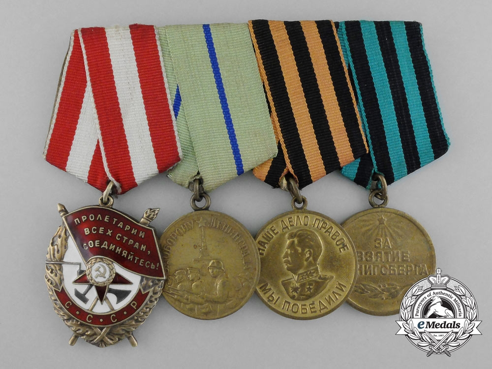 eMedals-A Soviet Russian Order of the Red Banner & Campaign Medal Grou