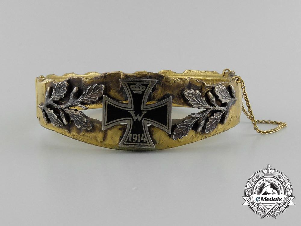 eMedals-A First War German Imperial Patriotic Iron Cross Bracelet