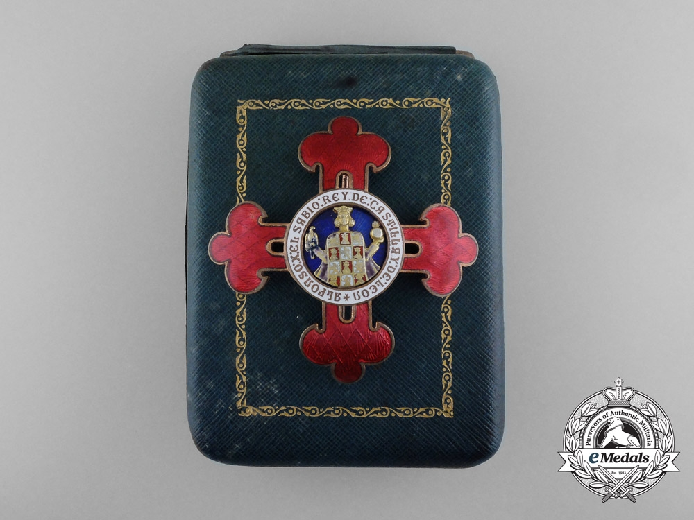 eMedals-A Spanish Civil Order of Alfonso X the Wise; Grand Cross with Case