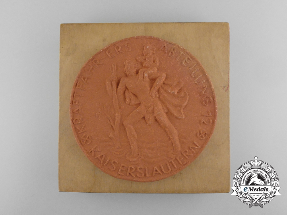 eMedals-Germany, Third Reich. A City of Kaiserlautern Motor Vehicle Reserve Department 12 Award to a Female 1942