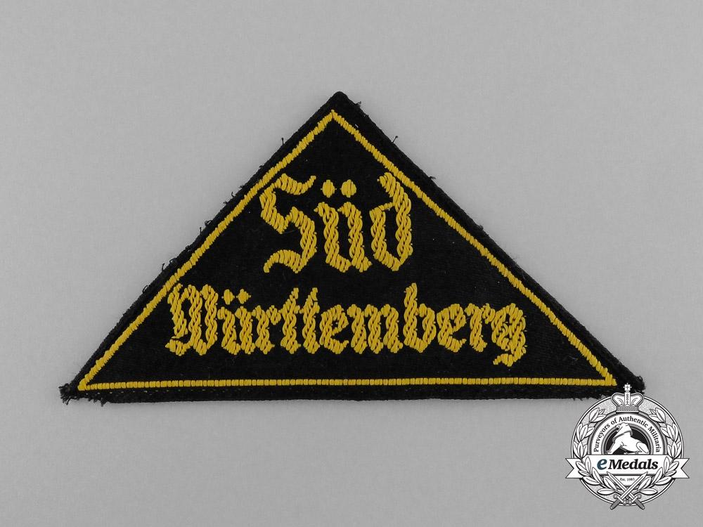 "eMedals-An  HJ ""SÜD WÜRTTEMBURG"" District Sleeve Insignia"