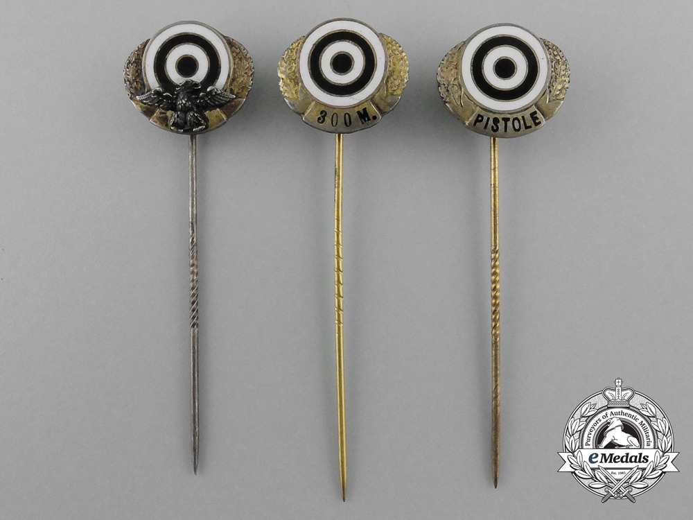 eMedals-A Lot of Three Hunting and Sport Shooting Award Stick Pins