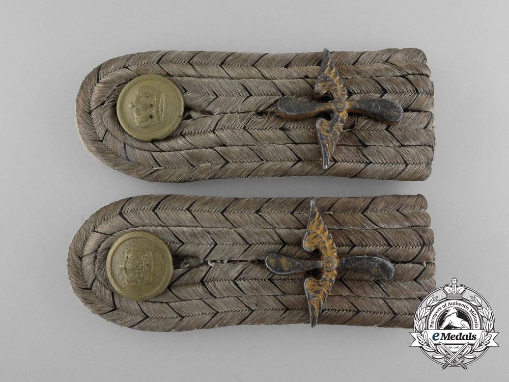 eMedals-A Set of  First War Prussian Leutnant Aviation Shoulder Boards