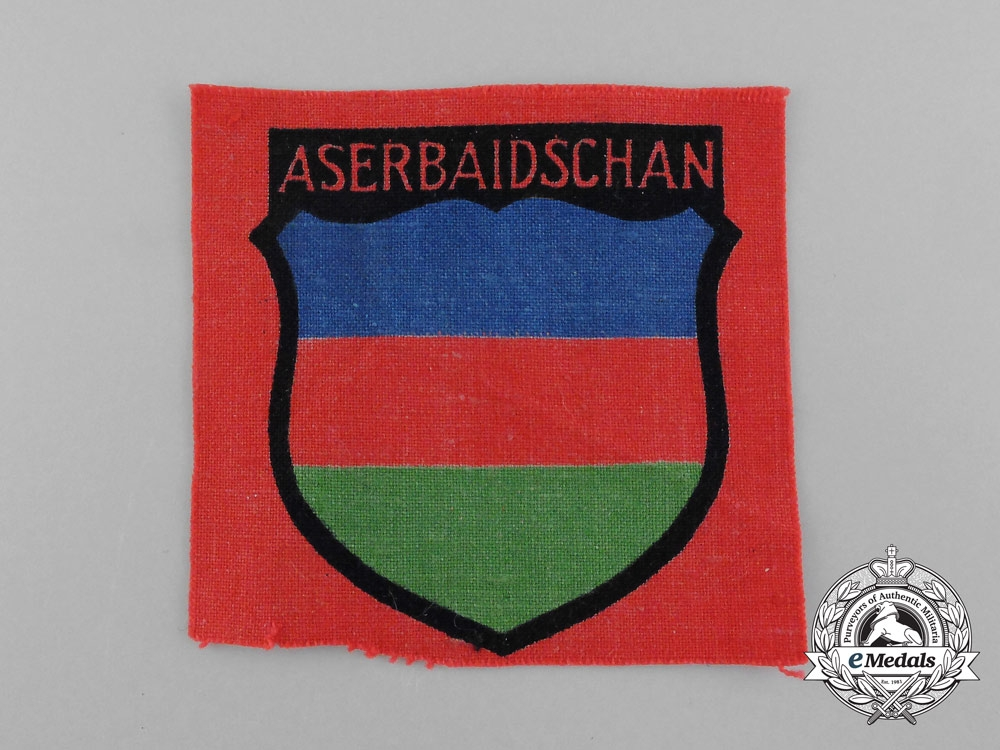 eMedals-A Mint Azerbaijani Volunteer Service Sleeve Insignia