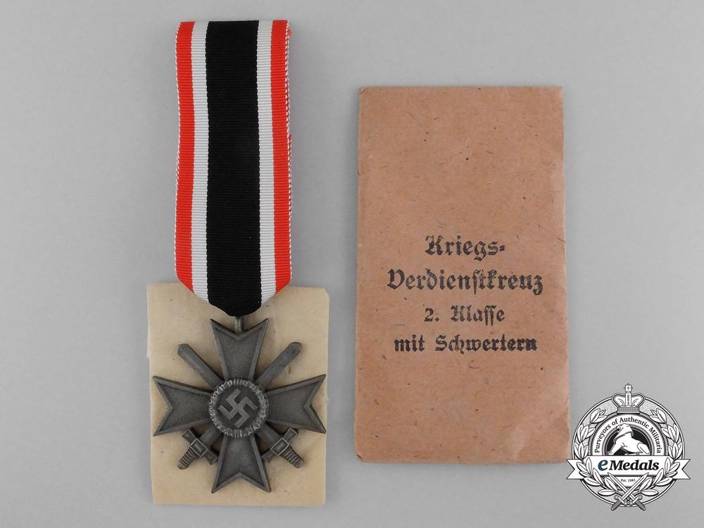 eMedals-A Mint War Merit Cross Second Class in Original Packet of Issue by Deschler und Sohn