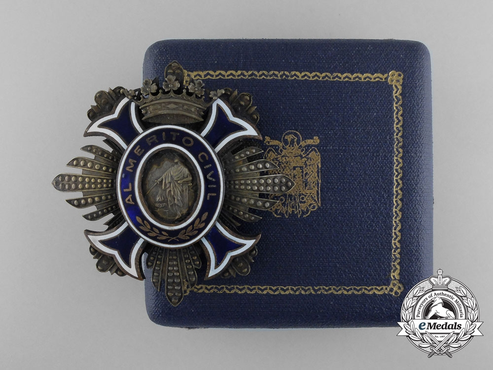 eMedals-Spain, Kingdom. An Order of Civil Merit, Breast Star Ladies' Version with Case