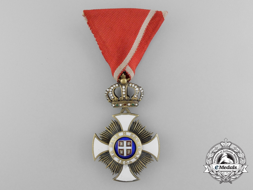 eMedals-Serbia, Kingdom. An Order of the Star of Karageorge, IV Class Officer, c.1916