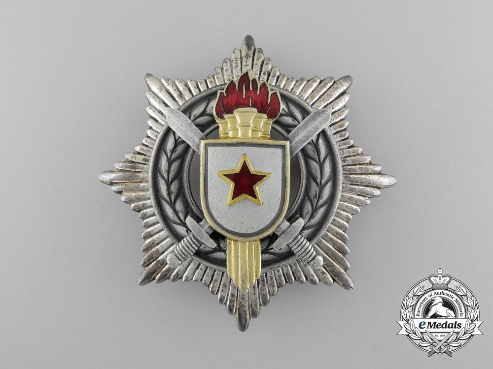 eMedals-A Socialist Yugoslavian Order of Military Merit; 3rd Class with Silver Swords