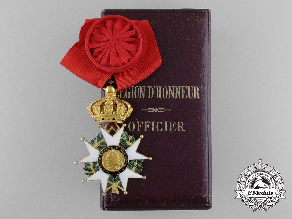 eMedals-A French Order of the Legion of Honour, Officer, 4th Class, 2nd Empire (1852-1870) with Cased