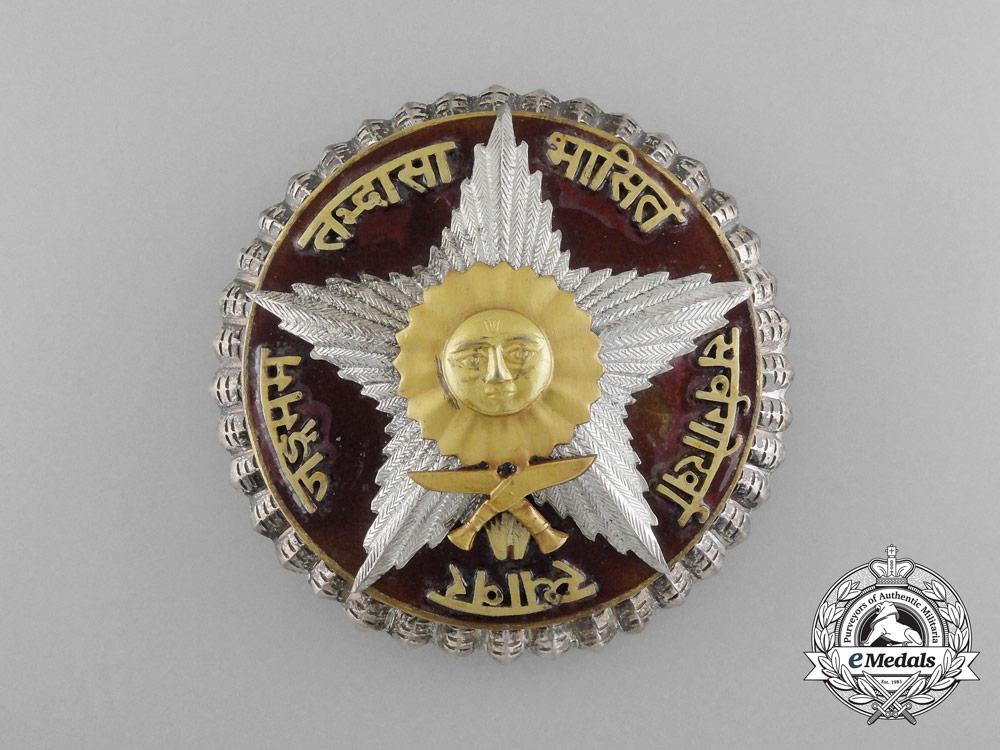 eMedals-Nepal, Federal Democratic Republic. A Most Puissant Order of the Gorkha Dakshina Bahu, I Class Star, c.1960