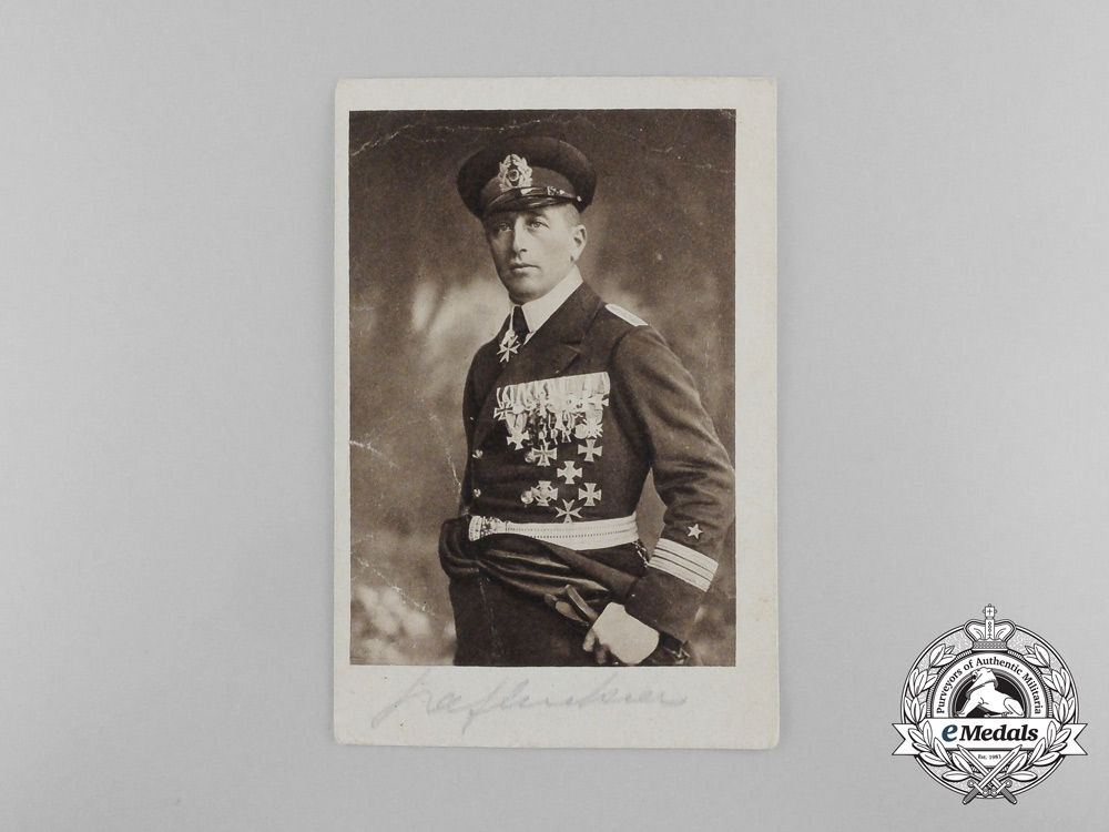 "eMedals-A Signed Picture Postcard of  the ""Sea-Devil""; Corvette Captain Felix Graf von Luckner"