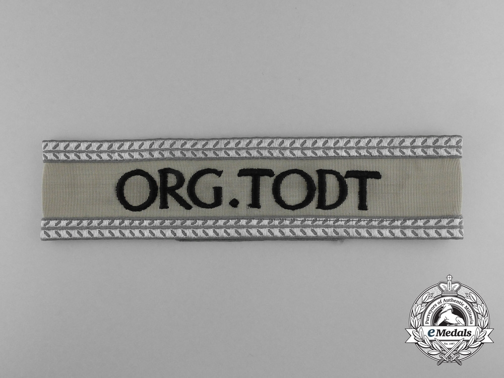 "eMedals-An ""Organization Todt"" Leader's Cufftitle"