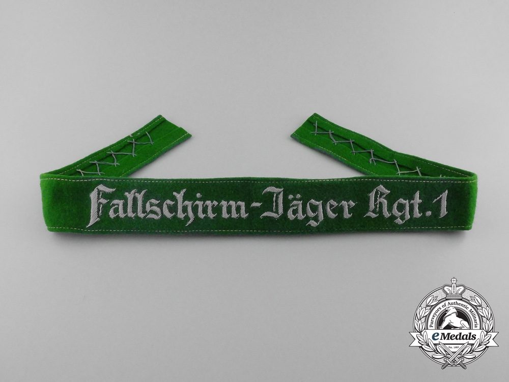 "eMedals-Germany, Luftwaffe. A ""Fallschirm-Jäger Rgt.1"" Cufftitle"