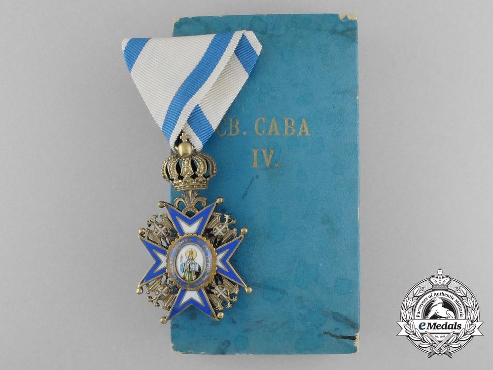 eMedals-A Serbian/Royal Yugoslav Order of St. Sava 1921-1941, 4th Class, Cased