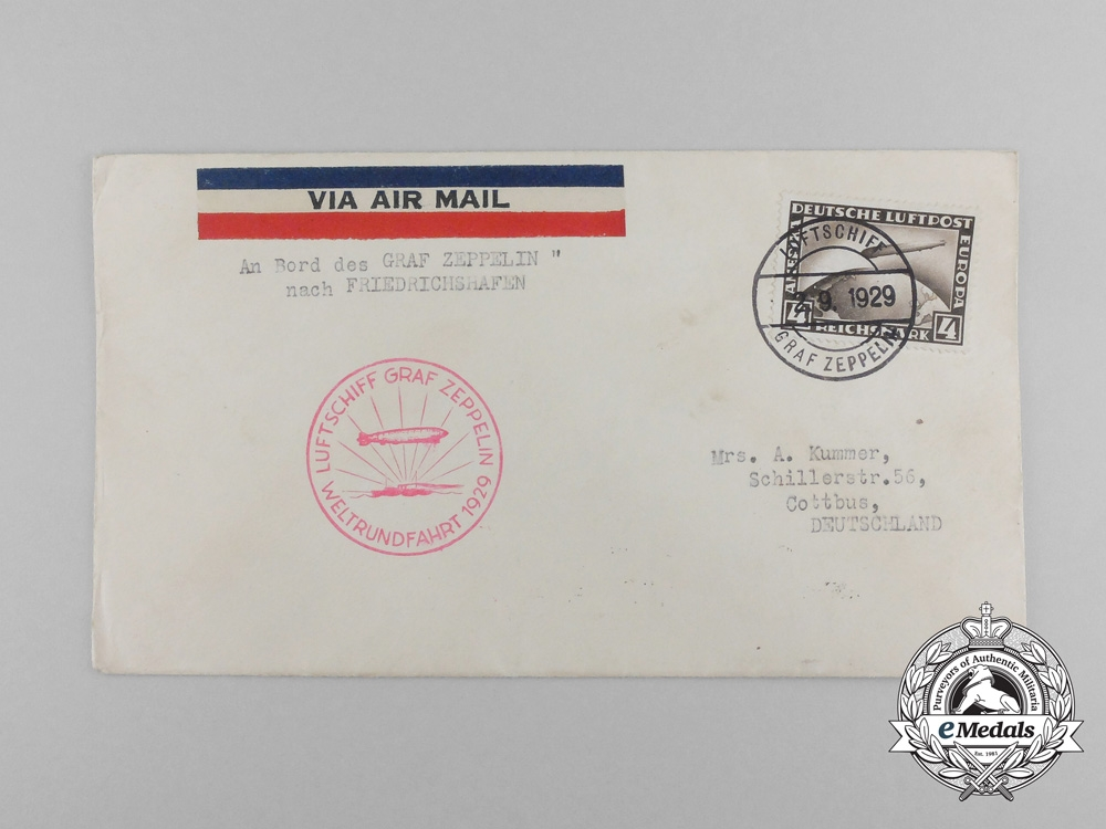 eMedals-An Interesting 1931 Airmail Envelope Sent from Braunschweig (Germany) to Peiping (China)