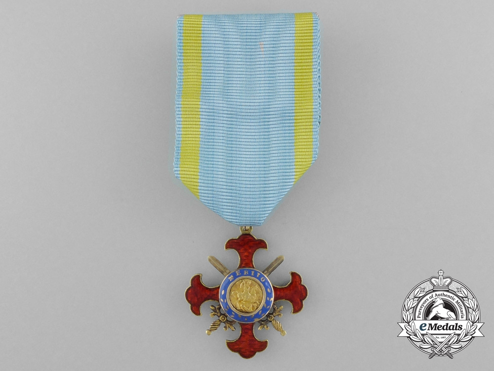eMedals-Italy, Kingdom of the Two Sicilies. A Royal Military Order of St. George of the Reunion, c.1819