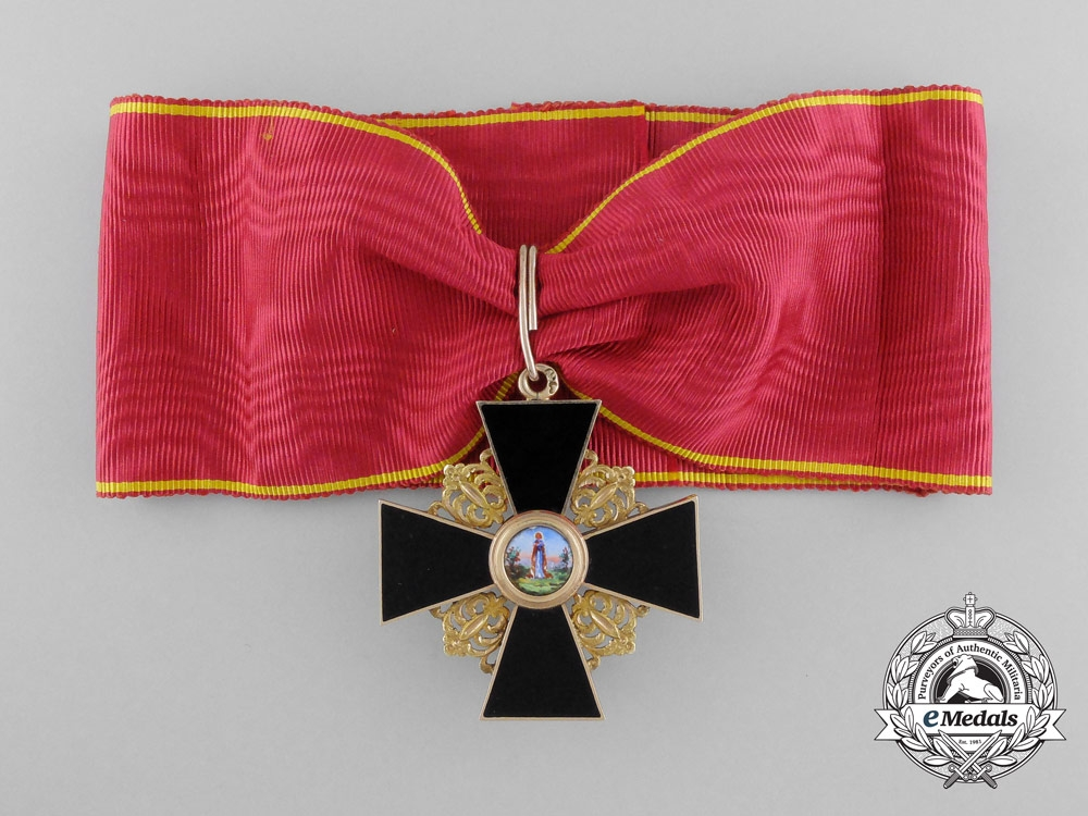 eMedals-An Early Russian Order of St. Anne; Second Class in Gold Circa. 1860