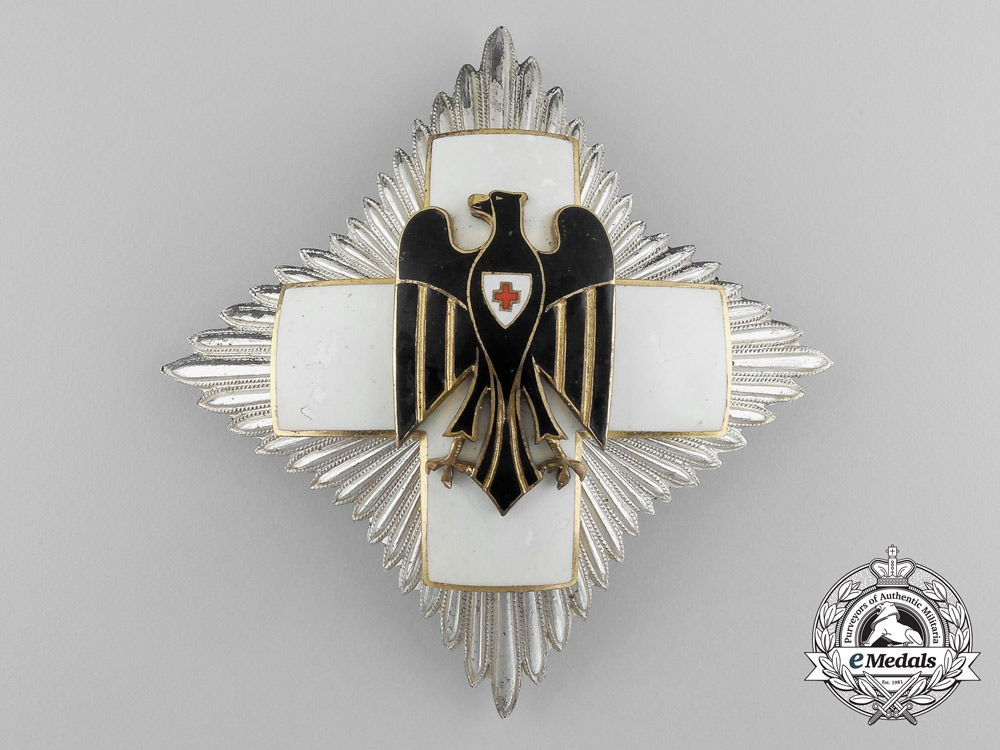 eMedals-Germany. A DRK Red Cross Honour Award Grand Cross, Type II, by Godet, c.1935