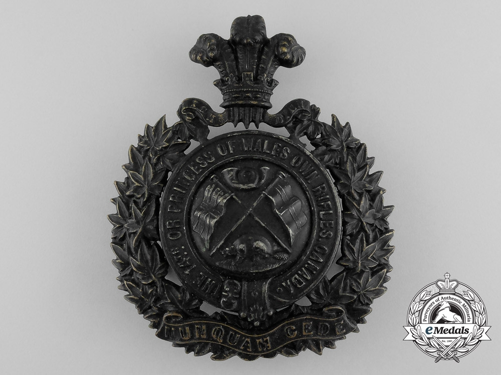 eMedals-United Kingdom. A 14th Regiment The Princess of Wales' Own Rifles Helmet Plate, c.1907