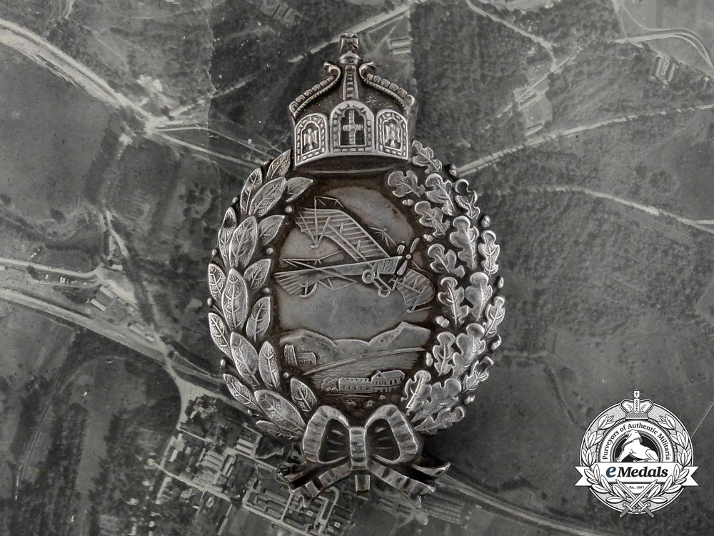 eMedals-A 1917 Reconnaissance Pilot Badge in Silver with Documents to Friedrich Schrader; 257th Detachment