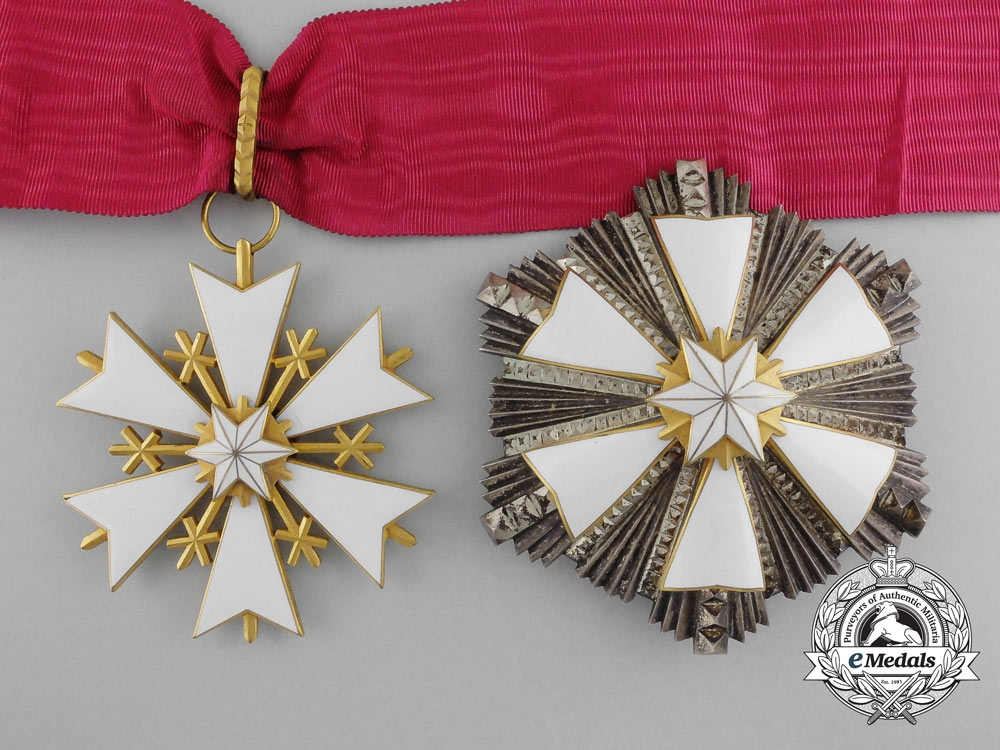 eMedals-Estonia. An Order of the White Star, II Class Grand Commander, c.1945