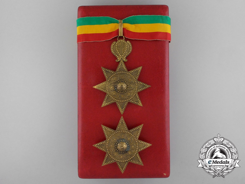 eMedals-Ethiopia. An Order of the Star, Grand Officer Set, by B.A. Sevadjian