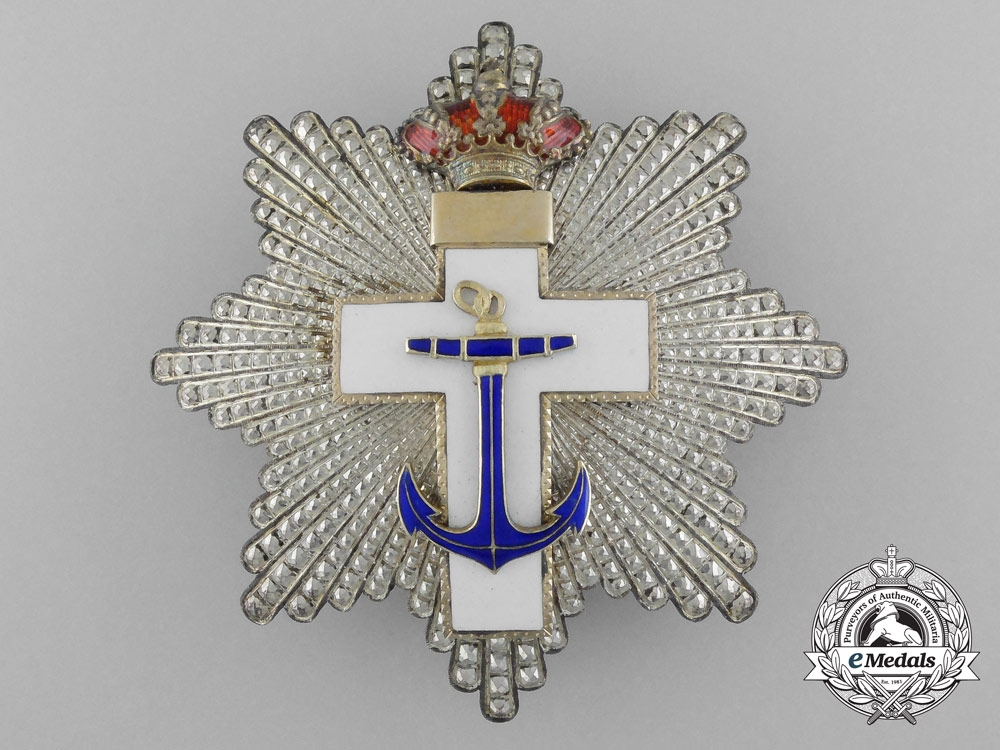 eMedals-A Spanish Order of Naval Merit; 2nd Class with White Distinction, c. 1875-1925