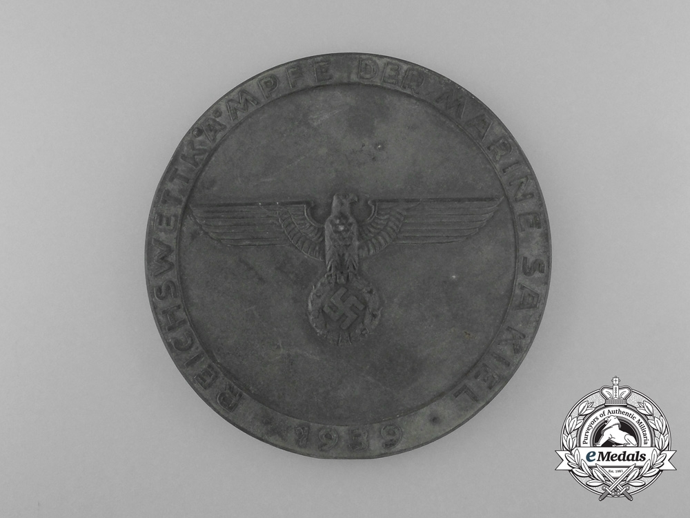 eMedals- A Third Place Medal of the 1939 Reich Competition Marine SA Kiel