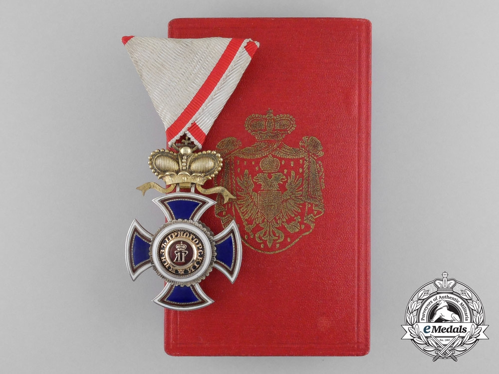 eMedals-A French Made Montenegrin Order of Danilo; 4th Class Officer with Case