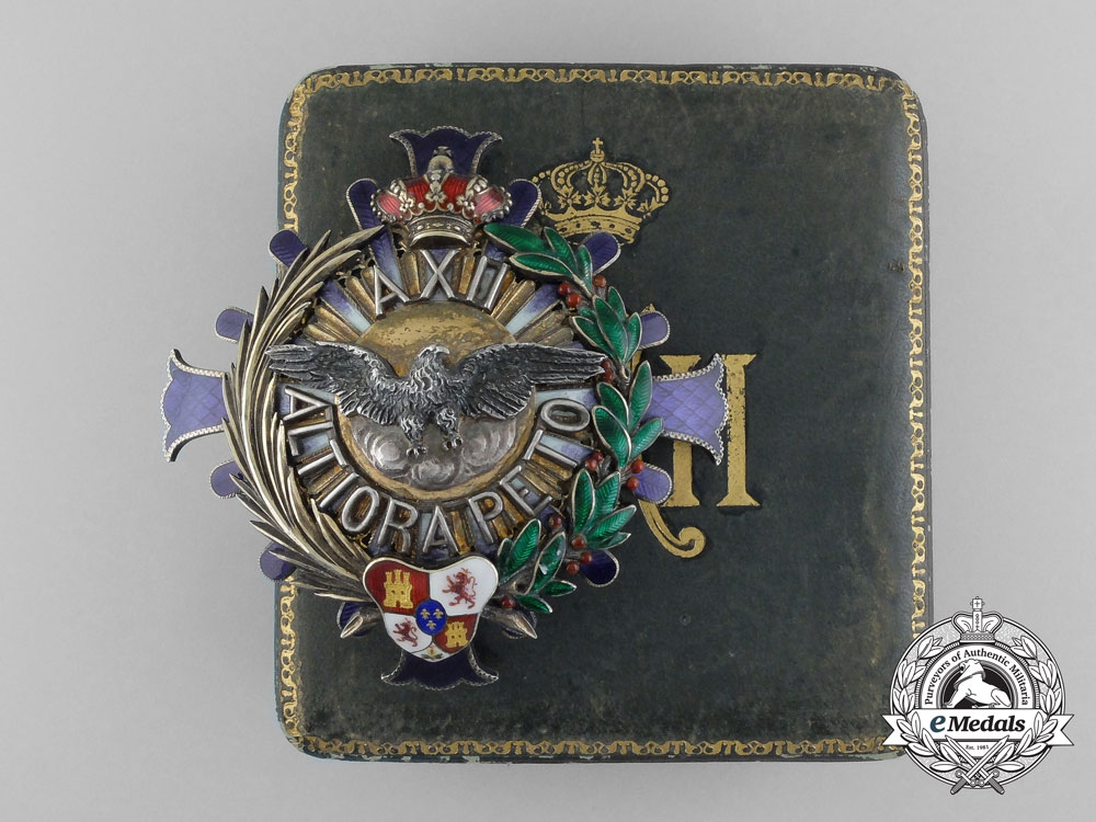 eMedals-A Spanish Civil Order of Alfonso XII; Grand Cross Breast Star (1902-1931) with Case