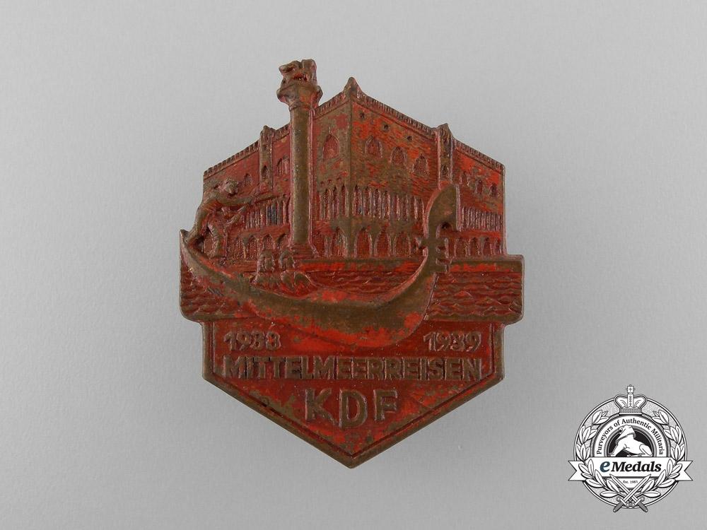 eMedals-Germany, KDF. A 1938/39 Mediterranean Sea Travel Badge, by Ferdinand Hoffstätter