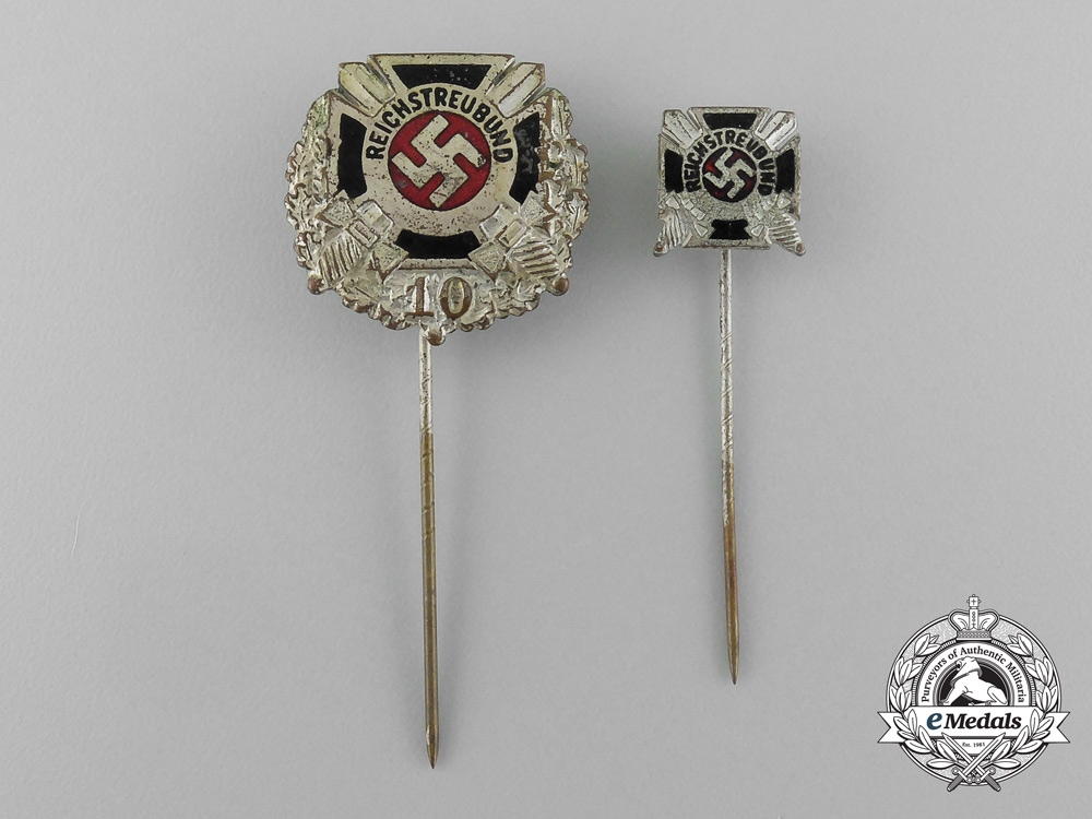 eMedals-A Grouping of Two League of Former Regulars Membership Stick Pins