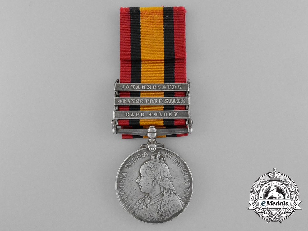 eMedals-A Queen's South Africa Medal to the Duke of Connaught's Light Infantry