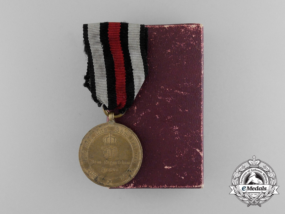 eMedals-A Prussian War Merit Medal for Combatants 1870-1871 in Box