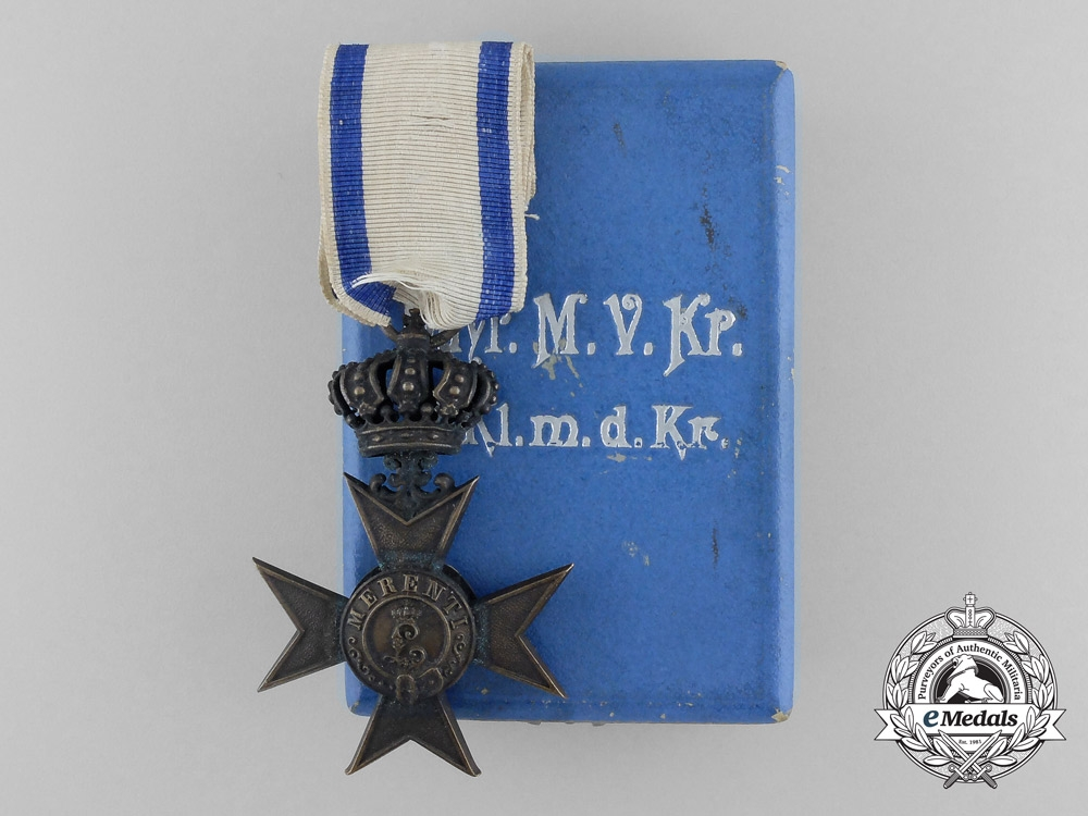 eMedals-A Bavarian Military Merit Cross; 3rd Class with Crown with Case