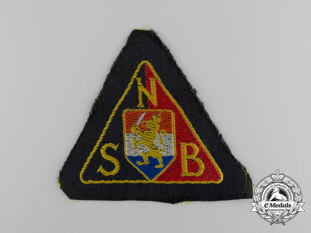 eMedals-A Mint NSB National Socialist Movement in the Netherlands Black Shirts Sleeve Patch