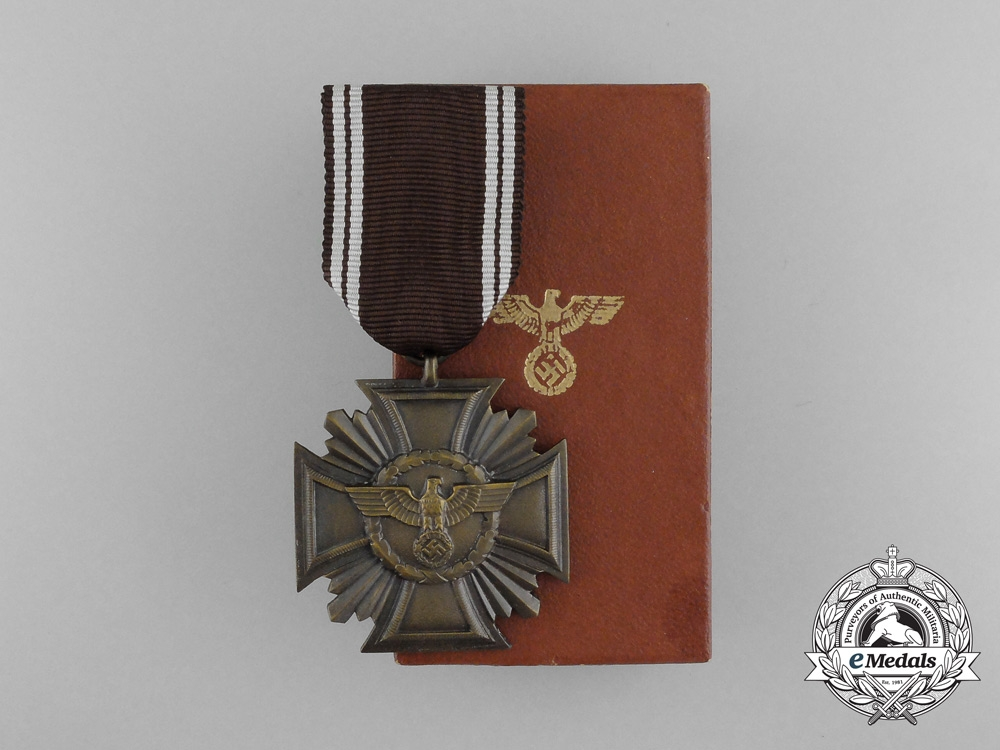 eMedals-A Mint and Cased NSDAP Long Service Award for 10 Years with Box