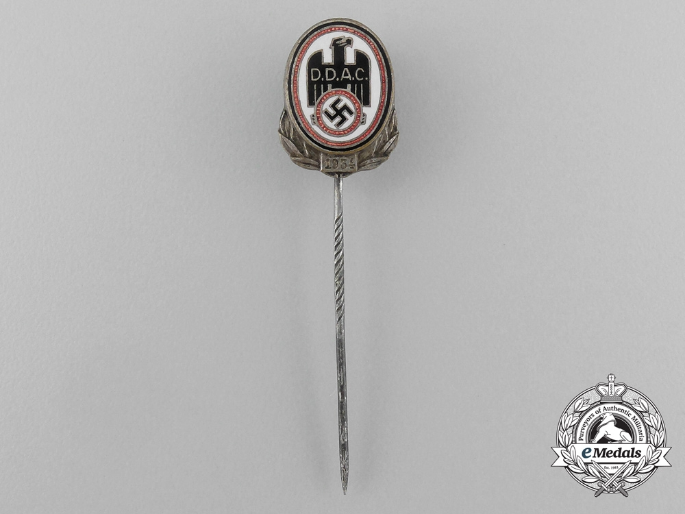 eMedals-A 1934 D.D.A.C German Automobile Club Membership Stick Pin by Christian Lauer